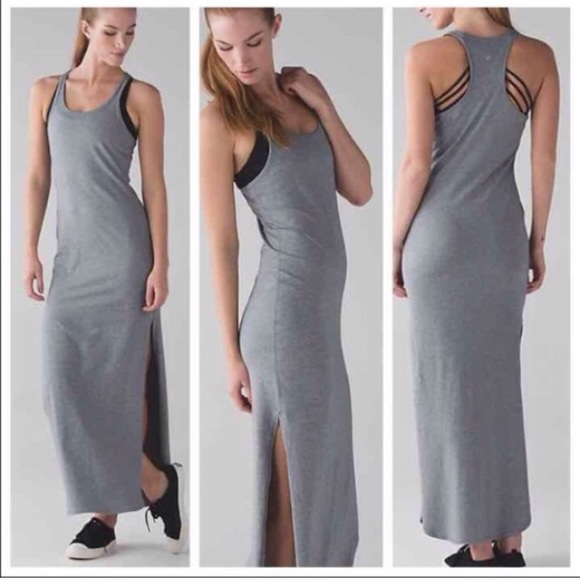 ef5902065ea Lululemon • Refresh Maxi Dress ll Gray New 8